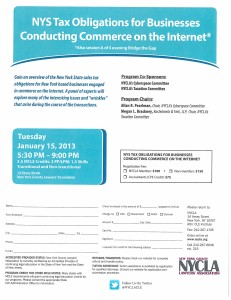 Flyer for NYS Tax Obligations for Businesses Conducting Commerce on the Internet