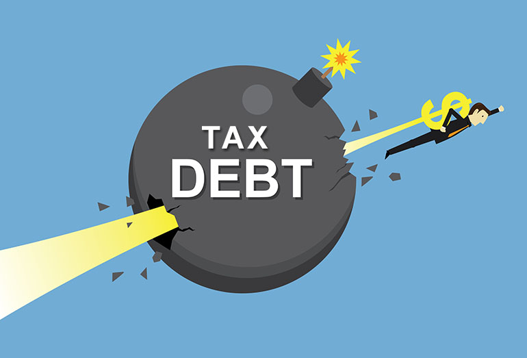 blast through tax debt