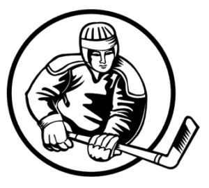 Hockey player image represents subject of post, a hockey team.